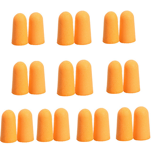 Moonbiffy 10 pairs suave espuma ear plugs c nicos orange viagem do sono noise preven o