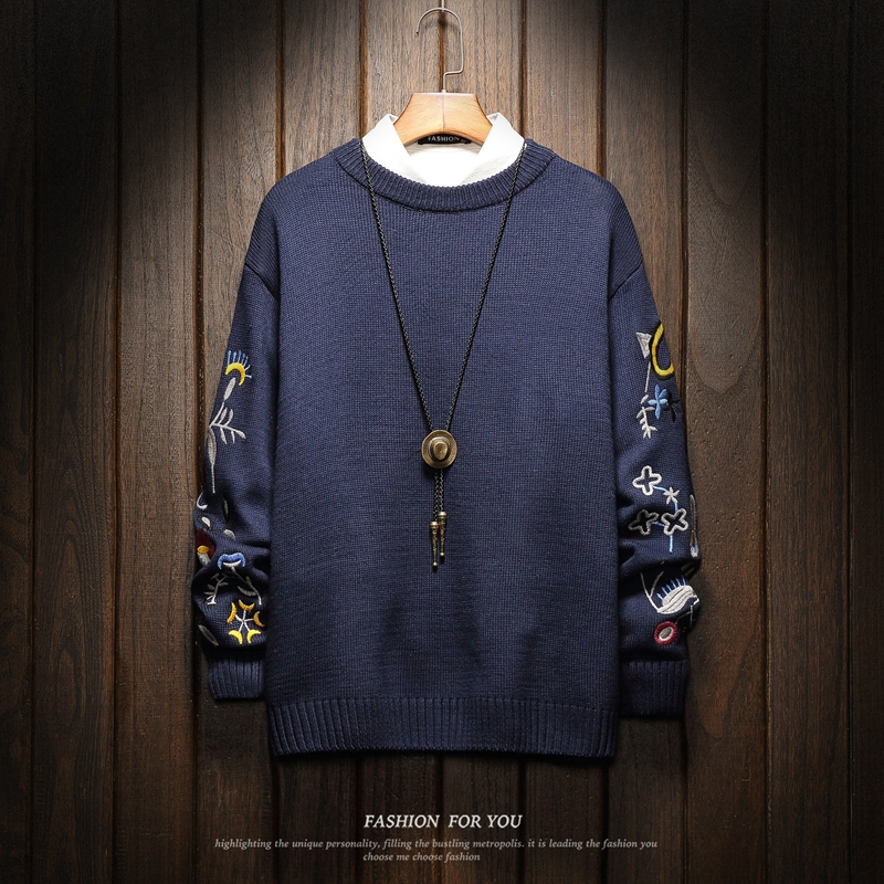 Christmas Men Sweaters Winter Clothes 2021 Plus Size Asian M-4XL 5XL 6XL Japan Style Casual Standard Designer Pullovers
