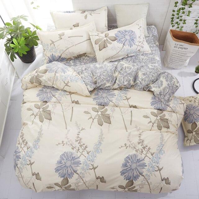 Floral Bedding Set Single Double Queen King Size Duvet Cover Flat Sheet Pillow Cases Nature Quilt Cover Set 3pcs/4pcs