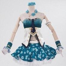 Tube Tops falda Amor Vivo! Eli Ayase Flor Elf cosplay Disfraces de Halloween para las mujeres ropa de anime con Pendiente