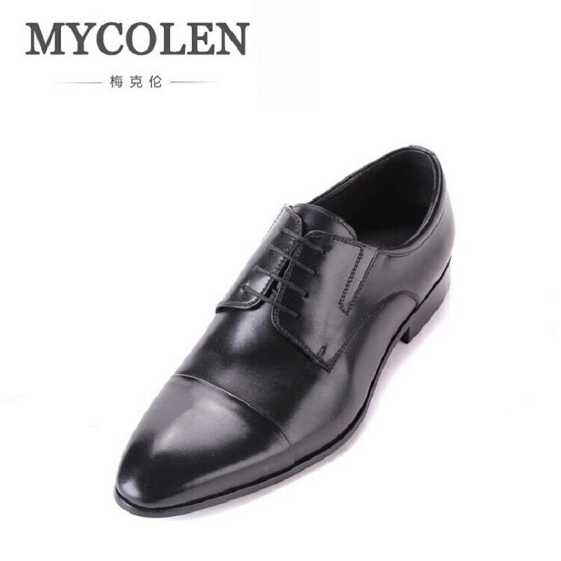 MYCOLEN Luxury Men Flats Brand New Genuine Leather Men Oxford Shoes Work Business Lace Up Dress Shoes sapatos masculinos new 2017 summer brand casual men shoes mens flats luxury genuine leather shoes man breathing holes oxford big size leisure shoes