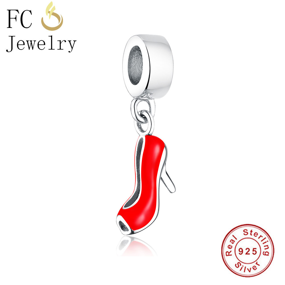 ALI shop ...  ... 32878728912 ... 4 ... FC Jewelry Fit Original Pandora Charms Bracelet 925 Sterling Silver Dress Lip Lipstick High Heels Bag Perfume Cup Berloque DIY  ...