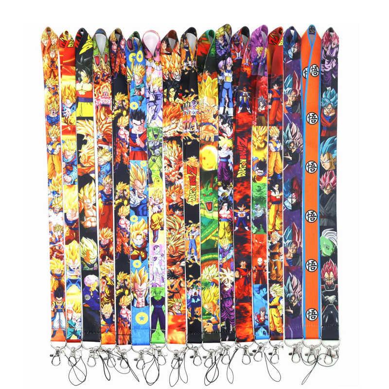 Japanse Anime Dragon Ball z Sleutelhangers Lanyard actie speelgoed figuur Hals Sleutel Riem voor Telefoon houder Sleutels ID Kaart Cartoon lanyards