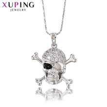 Xuping Fashion Pendant Special Design Rhodium Color Plated Synthetic CZ Skeleton Jewelry High Quality Promotion S3-32064(China)