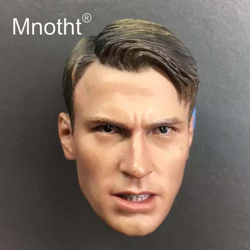 Mnotht Chris Evans/Bucky Barnes/Logan Head Sculpt 1/6 Scale Male Soldier Resin Head Model for Action Figure Toys Collection 1 6 scale wolverine 3 logan hugh jackman head sculpt for 12 figure hot toys male head carving soldier head model toys