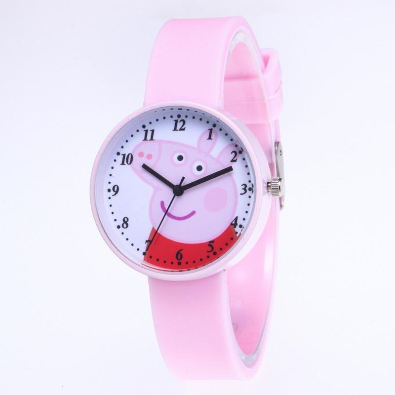 New Hot Śliczne Świnka Peppa Cartoon Kobiet Zegarek Moda Silikonowy - Zegarki damskie - Zdjęcie 2