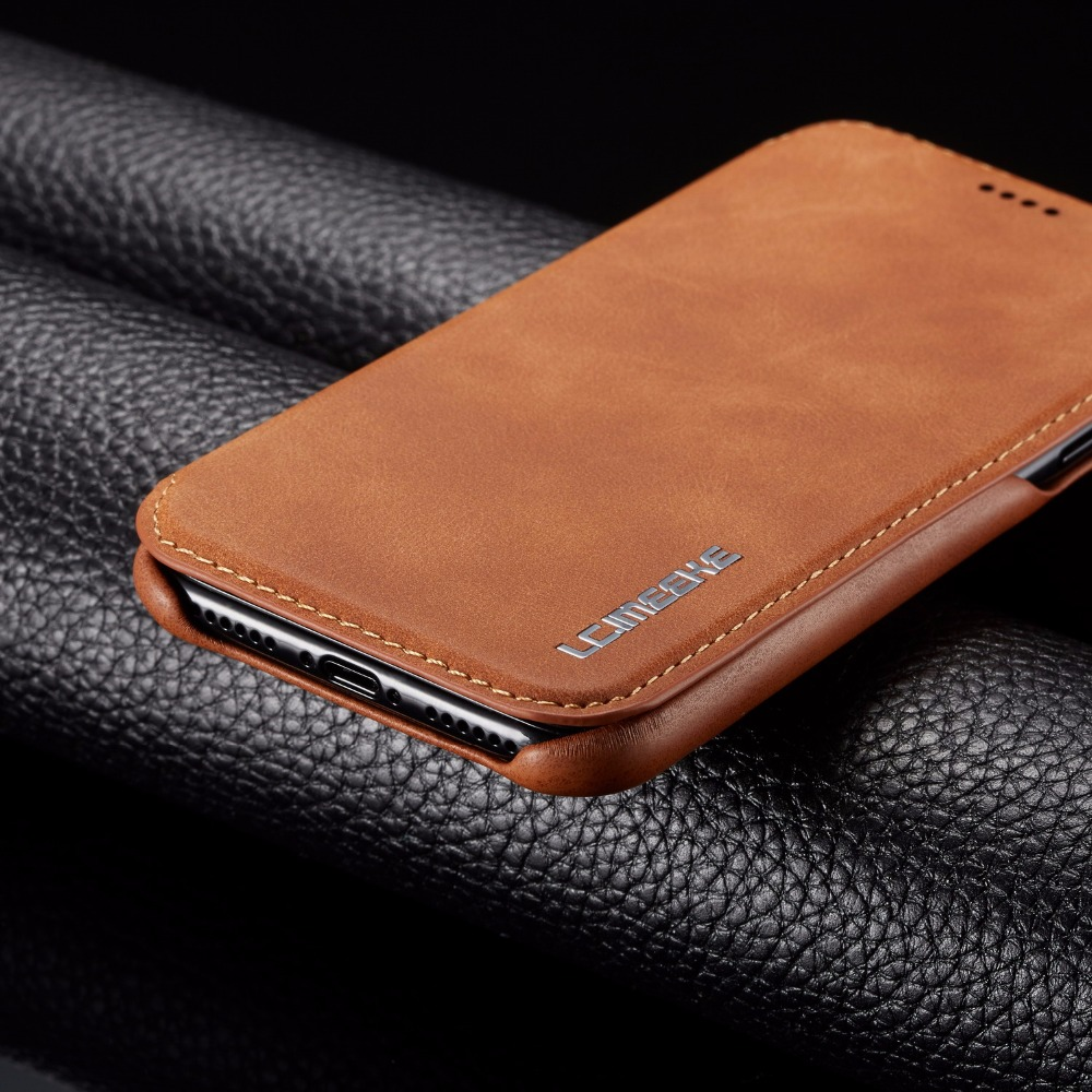 For iPhone XS Max XR Case Luxury PU Leather Wallet Stand Thin Slim Skin Case Cover For iphone X 8 7 Plus 6 6s