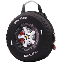 Small class kindergarten children aged 3-6 in diagonal 3D stereo car tire cute personality snack pack free shipping
