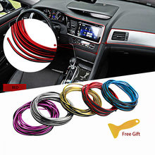 Car Styling Brand Stickers and Decals Interior Decorative 3D Thread Stickers Decoration Strip for universal car(China)