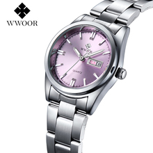 2016 New Luxury Brand Women's Quartz Watch Date Day Clock Stainless Steel Watch Ladies Fashion Casual Watch Women Wrist Watches