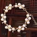 Kittenup New  brand Korean Gold Color Chain  fashion jewelry  imitation pearl bracelets for women