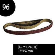 96 pcs 40 240 Grits Lixa Bandas Abrasivas Lixar Cintos para Power Sander Ferramentas Rotativas Acessórios 13x457mm Ferramenta Abrasiva