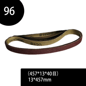 Image 1 - 96pcs Sanding Belts 40 240 Grits Sandpaper Abrasive Bands for Sander Power Rotary Tools Accessories 13 x 457 mm Abrasive Tool