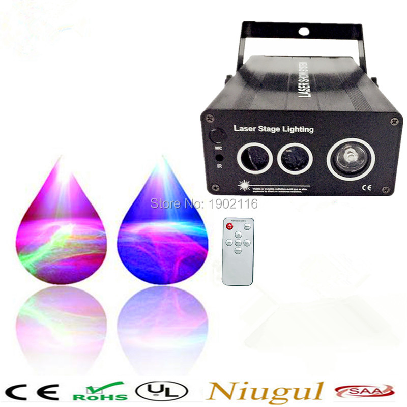 Remote RGB Laser Stage Lighting Flash Scanner DJ Dance Xmas Show Effect Projector Fantastic Disco KTV led wave effect laser lamp royal canin yorkshire terrier adult