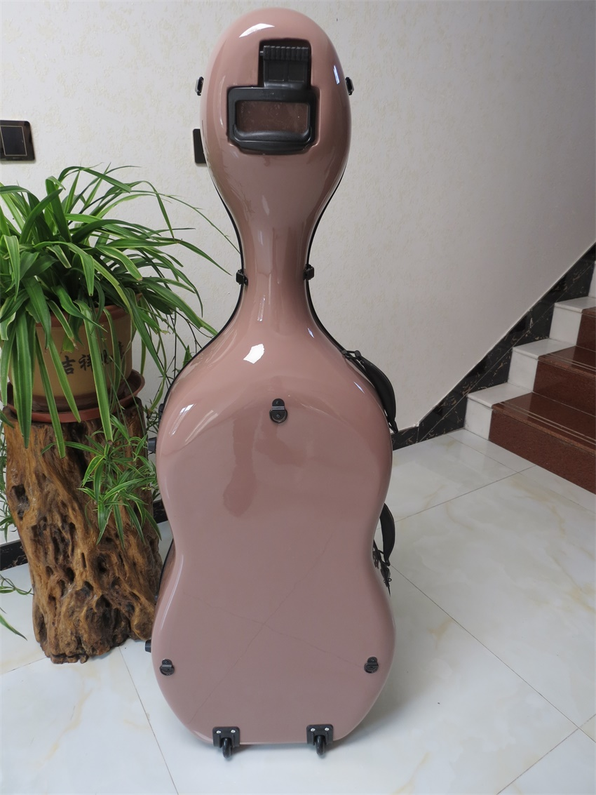 free shipping Full size composite Light pink Carbon fiber Cello Case 4//4