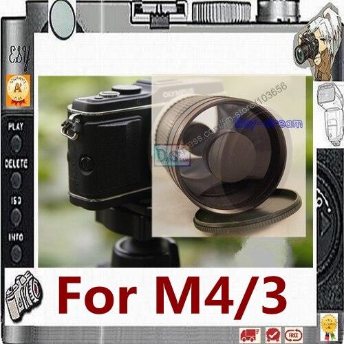 Ручная зеркальная телеобъектив F8 500 мм для Olympus Panasonic M4/3 M43 MFT, камера PA069