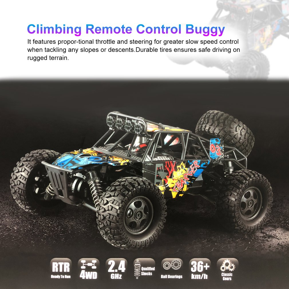 G173 1/16 2.4G 4WD Independent Suspension 40km/h High Speed Racing Car Climbing Remote Control Buggy Road Truck RC CarG173 1/16 2.4G 4WD Independent Suspension 40km/h High Speed Racing Car Climbing Remote Control Buggy Road Truck RC Car