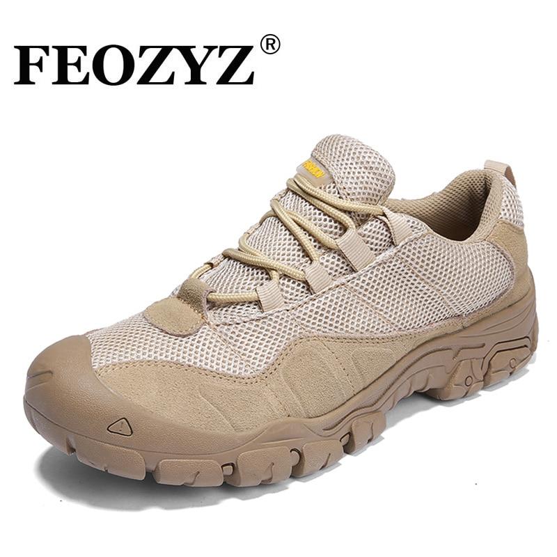 FEOZYZ Waterproof Hiking Shoes Men Cow Leather Trekking Hiking Boots Mountain Climbing Shoes Men Zapatillas Outdoor Hombre feozyz waterproof hiking shoes men cow leather trekking hiking boots mountain climbing shoes men zapatillas outdoor hombre