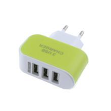 EPULAFashion 3.1A Triple USB Port Wall Home Travel AC Mobile Fast Charger Adapter For Samsung For Apple EU Plug