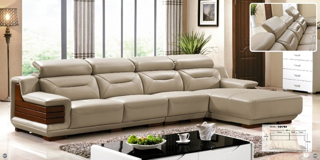 US $2150.0 |Orange and white customized color Italian leather sofa u shaped  luxury sofa sectional sets living room furniture (fr)-in Living Room Sofas  ...