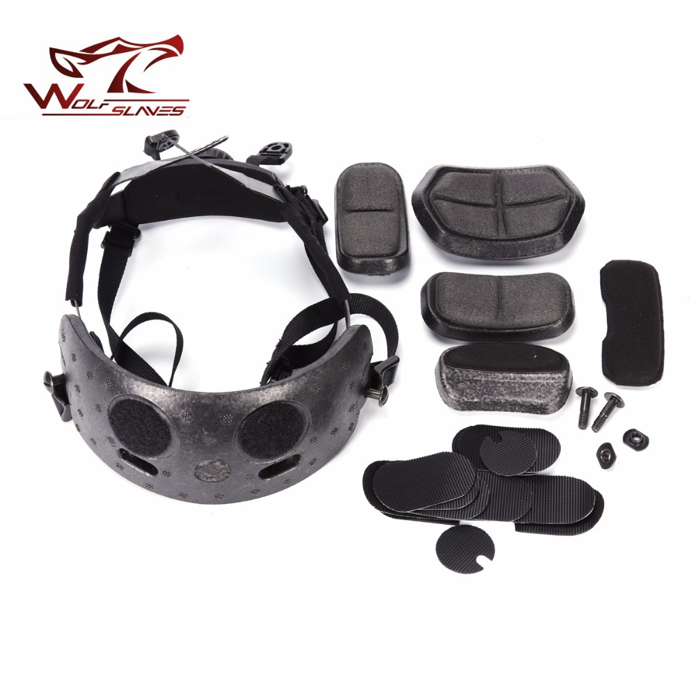 Helmet Hanging System for Fast BJ/PJ/MICH Helmets Tactical Helmet Liner & Suspension System Army Protective Hemet Accessories