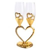 В форме сердца красное вино стекло высокой ноги Хрустальное стекло золотой, серебряный, двухслойный чашка для любимого человека День рожде...