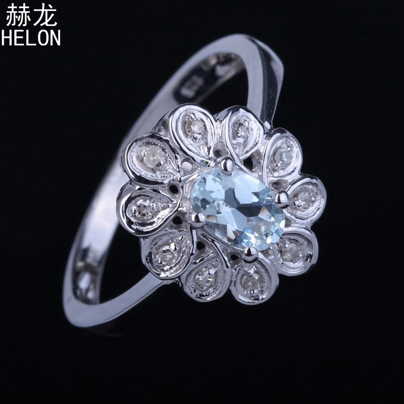 925 Sterling Silver 4x6mm Oval 100% Genuine Aquamarine Engagement Wedding Solitaire Accents Diamond Jewelry Women Ring wholesale925 Sterling Silver 4x6mm Oval 100% Genuine Aquamarine Engagement Wedding Solitaire Accents Diamond Jewelry Women Ring wholesale