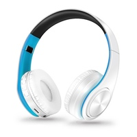 Cool 3 Color Stereo Foldable Wireless Headphones With Mic Audio Mp3 Bluetooth Headset Earphone Support SD