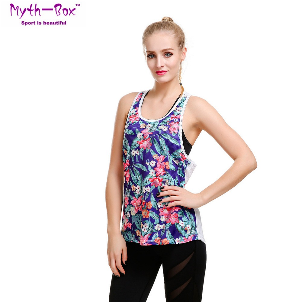 Energiek Vrouwen Sport Vest Bloemen 3d Print Vrouwelijke Yoga Shirts S-4xl Running Fitness T-shirts Mesh Hollow Out Tank Tops Gym Workout Blouse Om Digest Greasy Food Te Helpen