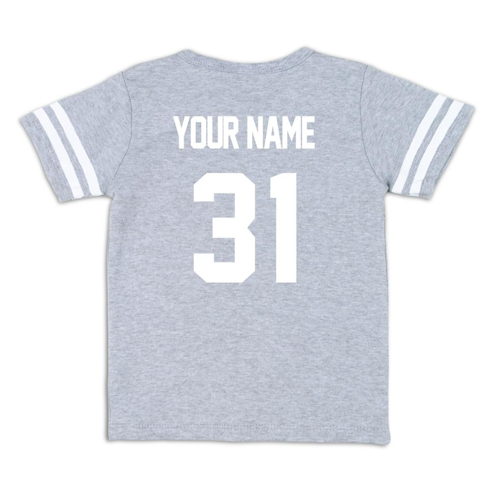 Image 4 - Kid T Shirt Personal Customize Football Sport Jersey Solid Summer Short Sleeve Casual Tees Baby Girl Boy Toddler Tops Clothing-in T-Shirts from Mother & Kids