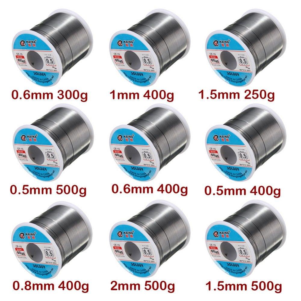 250g-500g 0.5/0.6/0.8/1.5/mm 2% chumbo da lata do fluxo 0.5-2mm solda do núcleo do rosin do derretimento do fio da lata do carretel de solda para o rolo de alumínio de solda