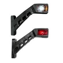 2X12/24 Вольт восстановления боковые габаритные контур светодиодные лампы Грузовой автомобиль с прицепом грузовой автомобиль