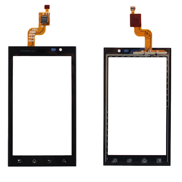 High Quality 4.3 For LG Optimus 3D P920 Touch Screen Digitizer Sensor Outer Glass Lens Panel Black+Tracking Code