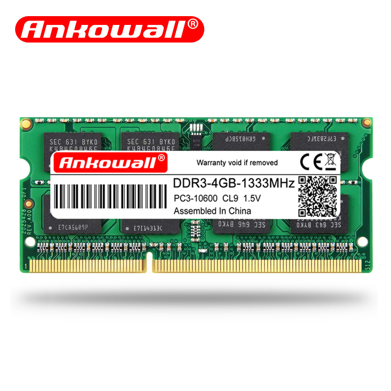 Ankowall Laptop Memory DDR3 With 2GB 4GB 8GB Capacity 1600/1333 MHz SO-DIMM 1