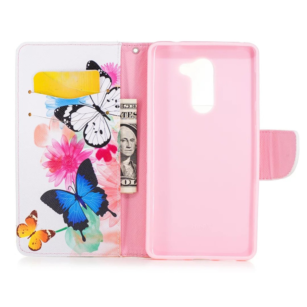 Untuk huawei honor 6x case magnetic balik dompet kulit painted case - Aksesori dan suku cadang ponsel - Foto 3
