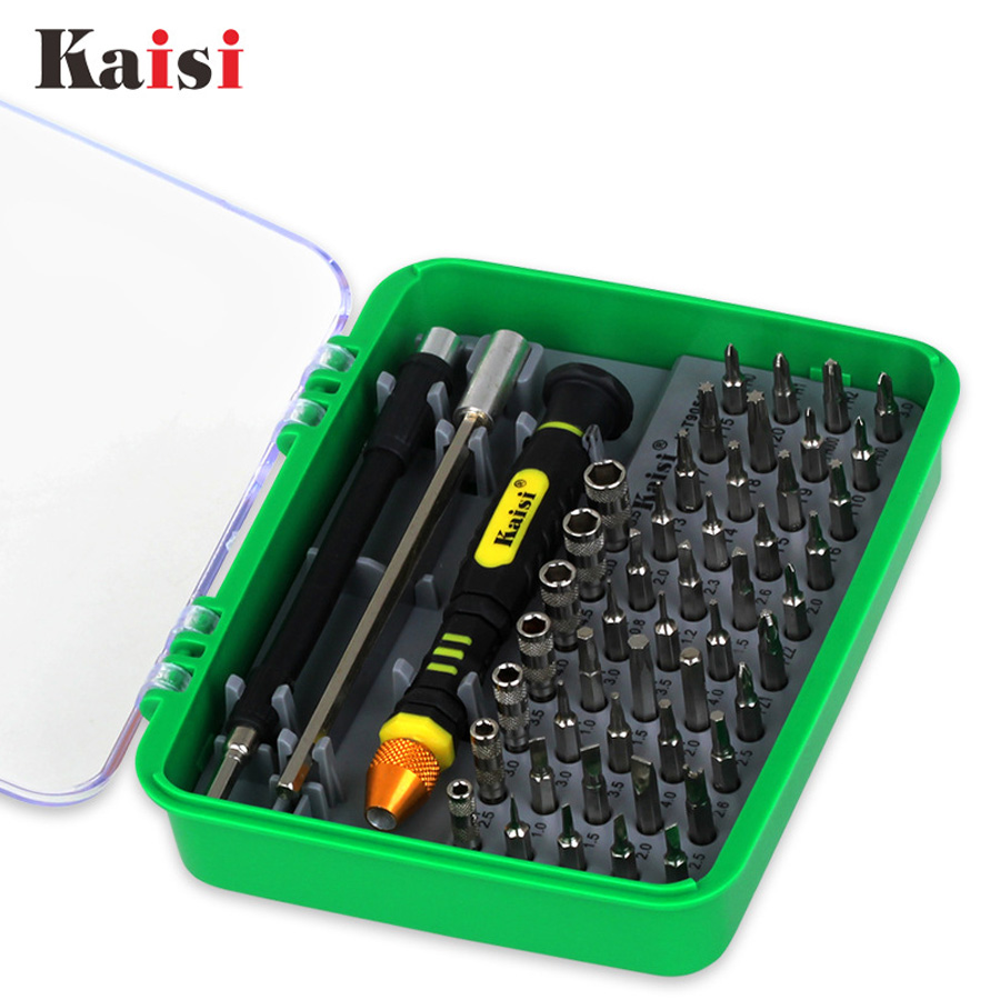 Hot Kaisi Precision 51 in 1 Screwdriver Set Of Chrome Vanadium Steel Disassemble Household Tools for iPhone for ipad for Mac