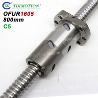 TBI 1605 Ballscrew C5 Ground DFU1605 new OFU1605 800mm with Anti Backlash Ball Screw Double nut High Precision DFU
