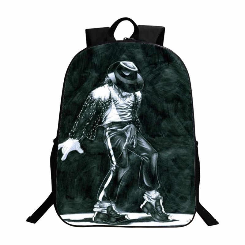 Студенческие рюкзаки DIY Майкл Джексон Bad Moonwalk Billie Jean с роскошным принтом крутые детские школьные ранцы для мальчиков мужская сумка для книг