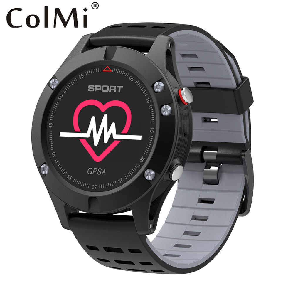 COLMI No.1 F5 Sports Smart Watch GPS Heart Rate Monitor Waterproof Altimeter Barometer Bluetooth Brim Clock for iOS Android wearables electronic watches altimeter barometer sleep monitor g sensor watch smart android wear smart watch ios bluetooth