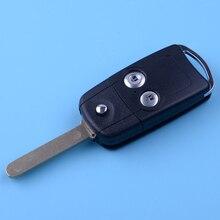 DWCX 2 кнопки автомобиля дистанционного Флип брелок в виде ракушки Чехол пластик подходит для Honda Civic Accord Jazz CRV HRV
