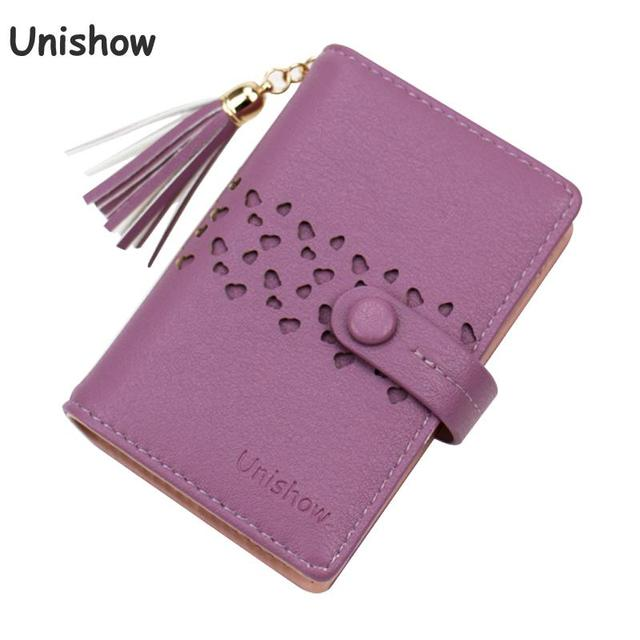Unishow 20 Bits Credit Card Wallet Women Card Holders Small Ladies Card Case Purse Holder Business Id Holder