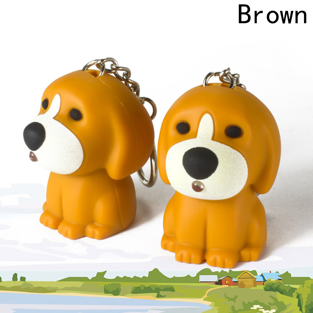 1 Piece! Arrive Cartoon 3D Key Ring With Sound LED Key Chain Toy Christmas Children Gift Puppy Dog Led Keychain
