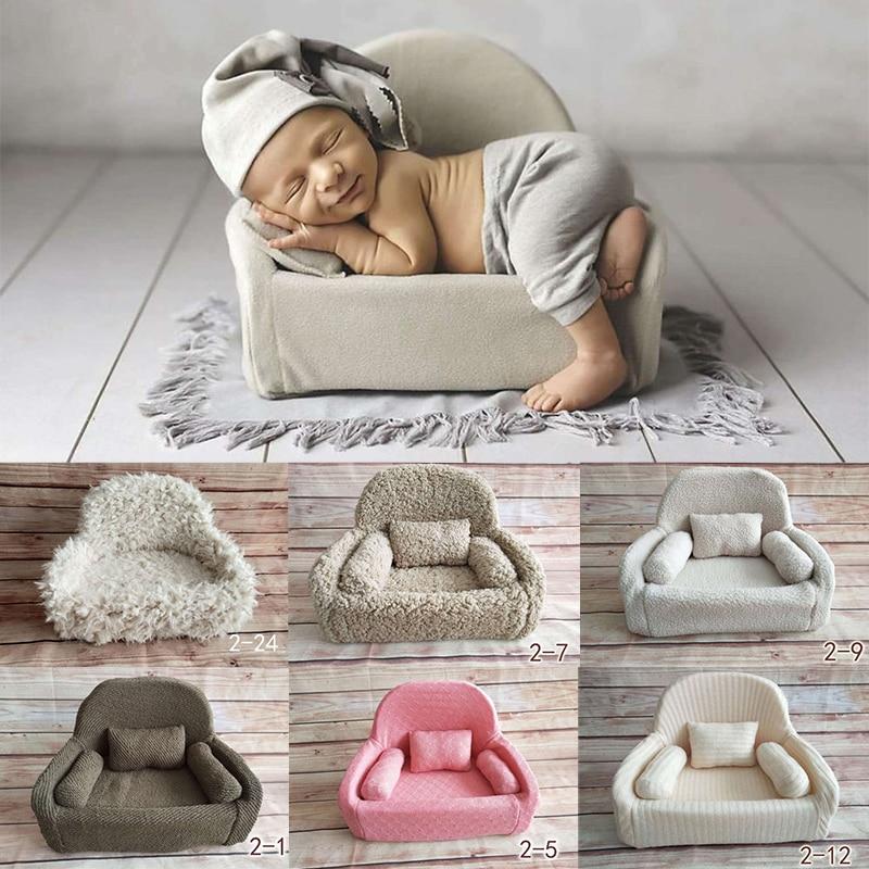 все цены на 2018 New Posing Sofa Baskets For Newborn Photography Props Flokati Baby Boy Girl Photo Shoot Accessories Basket Prop онлайн