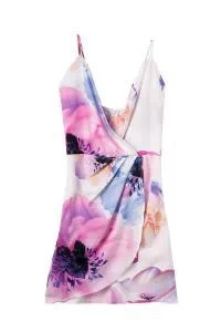 Hot Sale 2016 Women Dresess Summer Fashion Dress Plus Size vestidos Print Mini Summer Style Deep V-neck Casual Sexy WD164