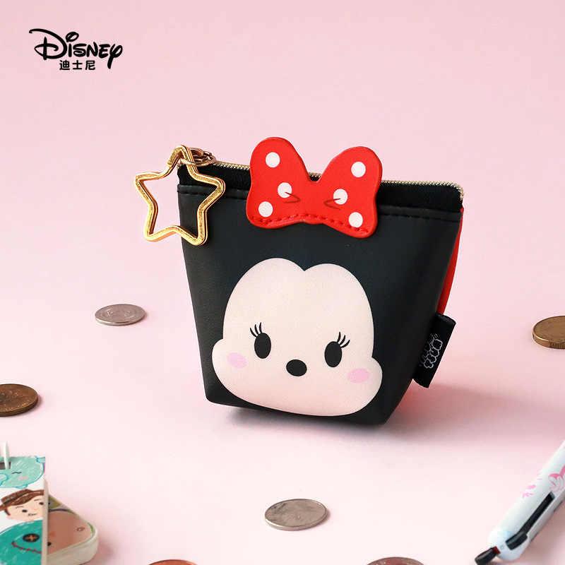 Disney Minnie Mouse di động đa năng lưu trữ bản tiền, hoạt hình Nữ Thời Trang Da PU Túi