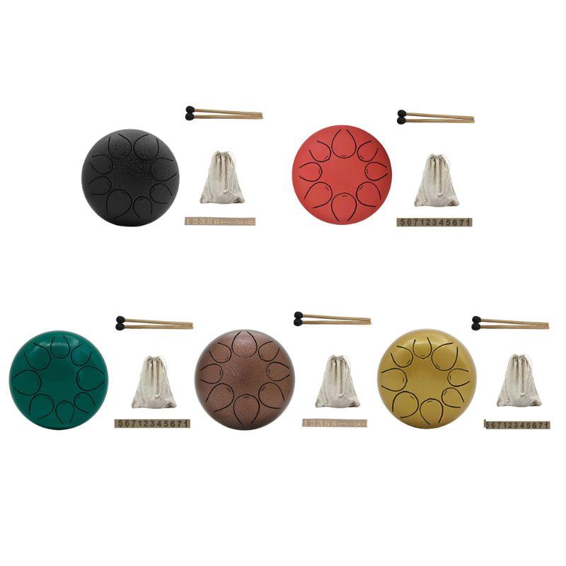 Mini percussions innovantes de tambour de casserole de main d'acier inoxydable d'acier inoxydable de 5 pouces vides pour l'enfant