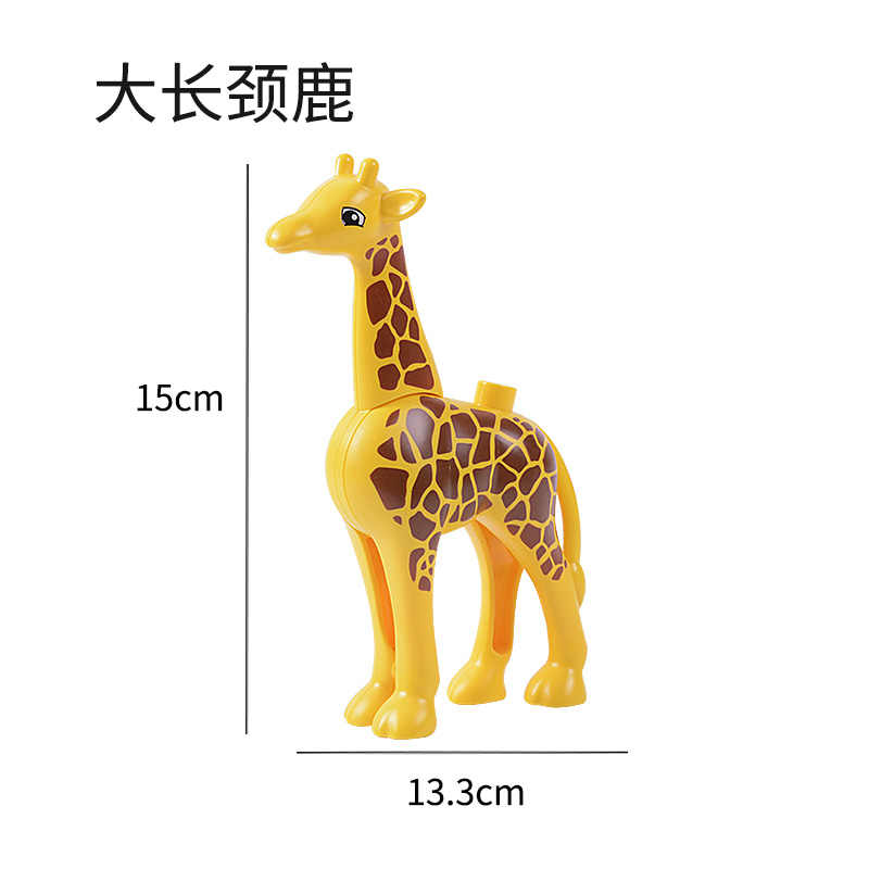 Legoing Duplo Dinosaurus Hippo Gajah Paus Ukuran Besar Seri Hewan Angka Blok Duploed Legoings Mencerahkan Mainan untuk Anak