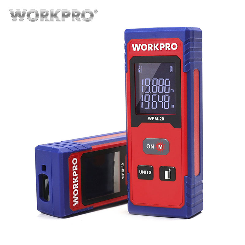 WORKPRO 20m 40m Laser Distance Meter Laser Rangefinder Digital  laser range finder tape distance measurerWORKPRO 20m 40m Laser Distance Meter Laser Rangefinder Digital  laser range finder tape distance measurer