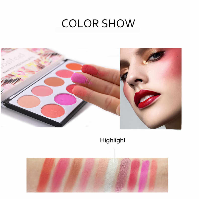 3D Blusher Smooth Makeup Contour Face Foundation Powder Cream Blush Concealer Palette 10Colors Eyes Shadow Charming Party Beauty