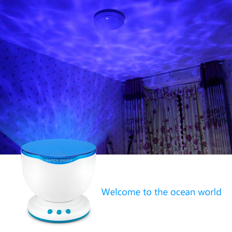 Multicolor Romantic Aurora Master LED Light Ocean Wave Light Projector Lamp bedside table lamps children's night light bedroom